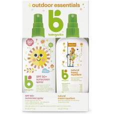 Combo Xịt chống nắng & Tinh dầu xịt chống muỗi Babyganics Outdoor Essentials 177ml
