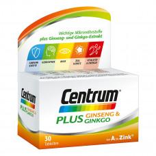 Tăng tuần hoàn não và cải thiện trí nhớ Centrum Plus Ginseng & Ginkgo 30 viên