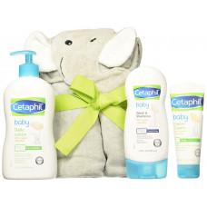 Combo sữa tắm gội - lotion - kem trị hăm - khăn chú voi Cetaphil