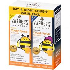 Combo siro ho tiêu đờm ngày và đêm Zarbee's Cough Syrup 118ml